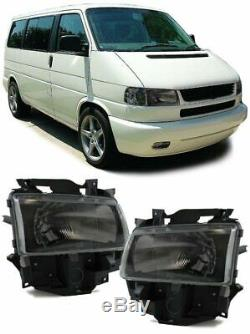 2 feux optique phare noir VW T4 Transporter Multivan Bus du 01/1996 au 03/2003