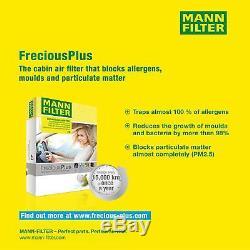 5x Mann Filtre Filtre D'Habitacle Mannol Filtre à Air VW Transporter V Bus 7HB