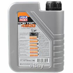 8L LIQUI MOLY huile moteur Top Tec 4200 + Mann Filtre VW Transporteur VI Bus Sgb