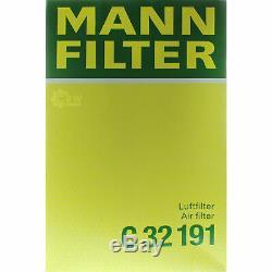 8L Mannol 5W-30 Break Ll + Mann Filtre Luft Filtre VW Transporter V Bus 2.0