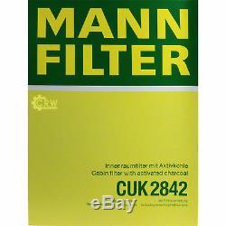 8L Mannol 5W-30 Break Ll + Mann Filtre Luft Set VW Transporter V Bus 2.0 Tdi