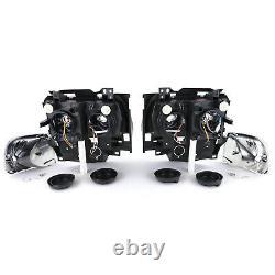 Ange Yeux Phares + Clignotant Noir Pour VW Bus T4 Caravelle Multivan De 96