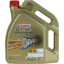 Castrol Edge 8L 5W-30 Ll Huile Moteur + Sct-Filter pour VW Transporter V Bus 7HB