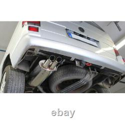 Fox Sportauspuff VW Bus T4 Transporteur Caravell Multivan Diesel Optique 2x63mm