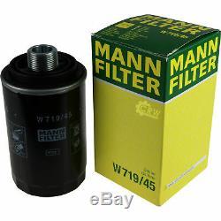 Huile Moteur 6L Mannol Diesel Tdi 5W-30 + Mann-Filter VW Transporter V Bus 2.0