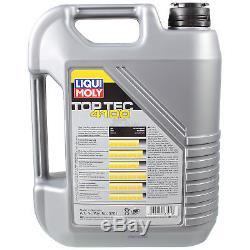 Liqui Moly 6L Toptec 4100 5W-40 Huile + Filtre pour VW Transporter V Bus 7HB