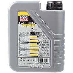 Liqui Moly 7L Toptec 4100 5W-40 Huile + Filtre pour VW Transporter Vi Bus Sgb