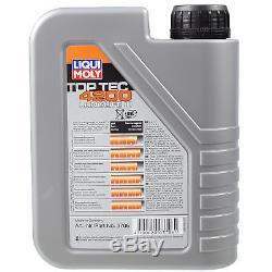 Liqui Moly 8L Toptec 4200 5W-30 Huile + Filtre pour VW Transporter V Bus 7HB