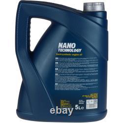 MANNOL 6L Nano Tech 10W-40 huile moteur+MANN-FILTER pour VW Transporter V Bus