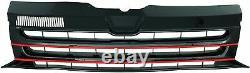 Pour VW T5 Gp Bus Transporter, Multivan 2009- Calandre Sport Grill Rouge/Noir