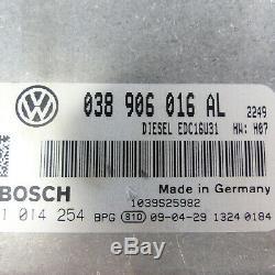 Unité de Commande de Moteur 038906016AL VW Bus Transporteur T5 7H 1,9TDI Brs