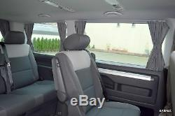 VW T5 Multivan Transporter Caravelle Mesure Rideaux Voiture Bus Accessoires Neuf