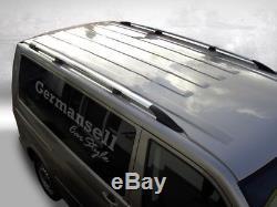 VW T5/T6 Long Caravelle Transporter Bus Aluminium Rails de Toit