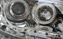 Verre Clair Chrome Phares VW Transporter, Multivan Bus T5 LED Lumière de