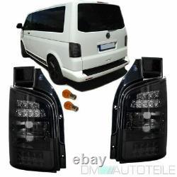 Vw T5 Bus Multivan Set Led Feux Arriere Set Noir Smoke 2003-2009